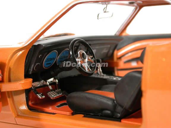 1968 Chevrolet Camaro diecast model car 1:18 scale die cast from Dub City BigTime Muscle Jada Toys - Metallic Orange