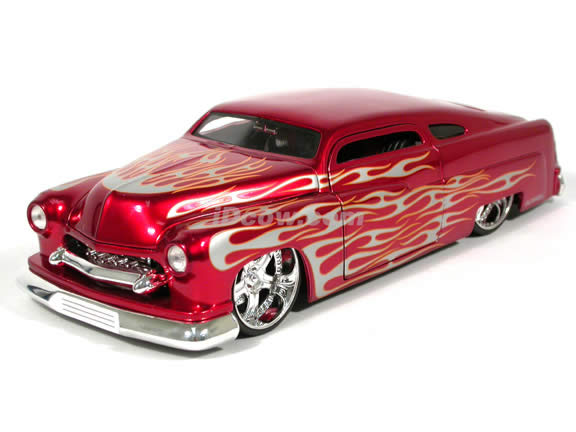 1951 Mercury diecast model car 1:18 scale die cast by Jada Toys - Metallic Red