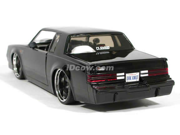 1987 Buick Grand National diecast model car 1:18 scale die cast by Jada Toys - Black