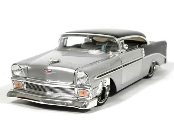 1956 chevrolet bel air 2 door hardtop diecast model car 1. Black Bedroom Furniture Sets. Home Design Ideas