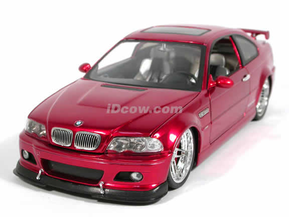 2002 BMW AC Schnitzer S3 diecast model car 1:18 scale die cast by Jada Toys Dub City - Metallic Red 90002