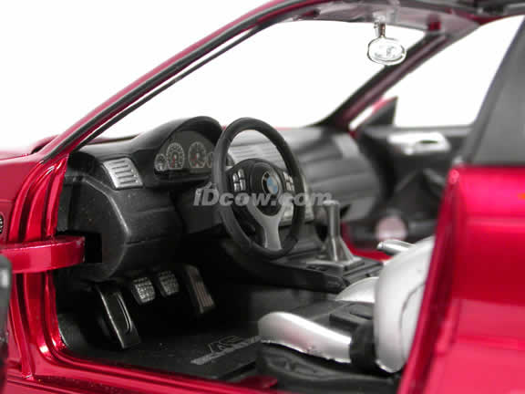 2002 BMW AC Schnitzer S3 diecast model car 1:18 scale die cast by Jada Toys Dub City - Metallic Red 90002