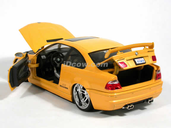 2002 BMW AC Schnitzer S3 diecast model car 1:18 scale die cast by Jada Toys Dub City - Metallic Yellow 90002