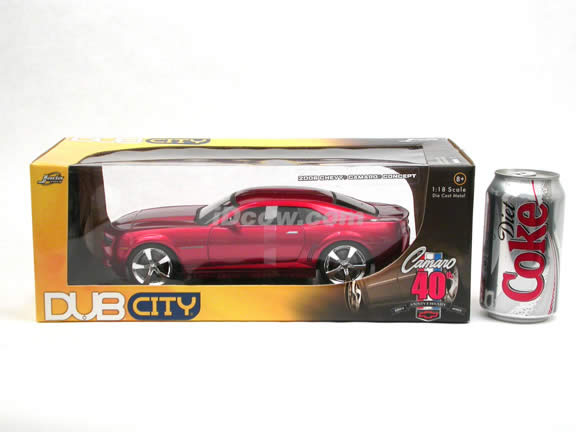 2006 Chevy Camaro Concept diecast model car 1:18 scale die cast by Jada Toys - Metallic Red 91077