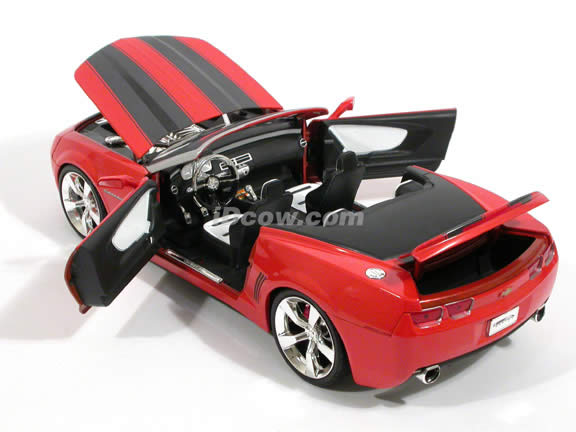 2007 Chevy Camaro Concept diecast model car 1:18 scale convertible by Jada Toys - Orange Convertible