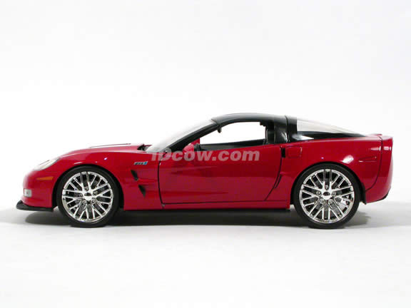 2009 Chevrolet Corvette ZR1 diecast model car 1:18 scale die cast by Jada Toys - Red 92025