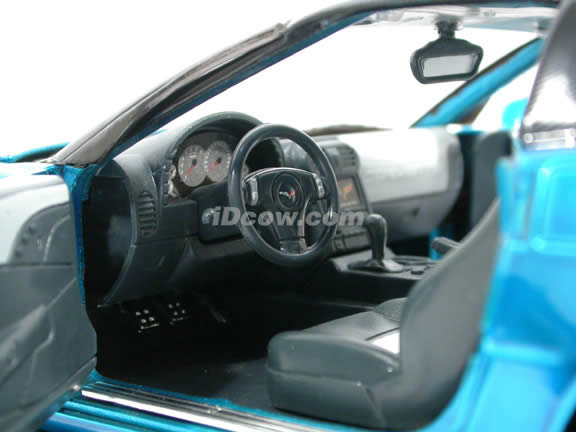 2009 Chevrolet Corvette ZR1 diecast model car 1:18 scale die cast by Jada Toys - Metallic Blue 92025