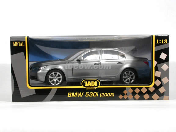 2003 BMW 530i diecast model car 1:18 scale die cast from Jadi - Silver