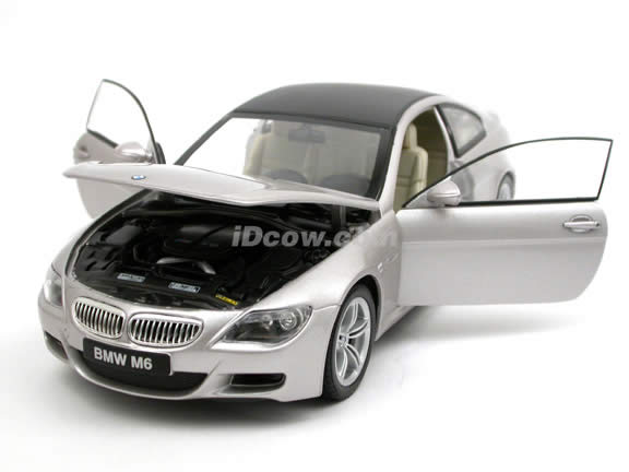 2006 BMW M6 diecast model car 1:18 scale die cast by Jadi - Diamond Metallic 98101