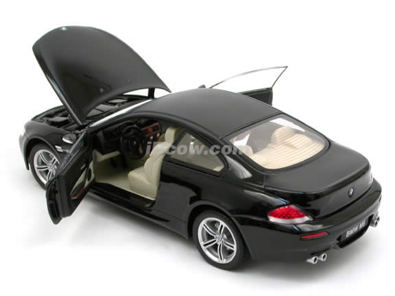 2006 BMW M6 diecast model car 1:18 scale die cast by Jadi - Black 98102