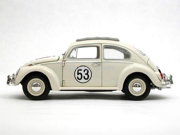 2005 Volkswagen Herbie Fully Loaded Disney #53 diecast model car 1:18 scale die cast by Johnny Lightning - 51017