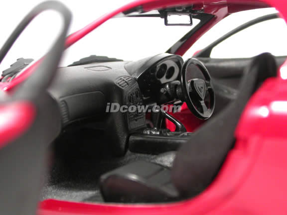1995 Mazda RX-7 diecast model car 1:18 scale die cast from Kyosho - Red (Japanese Version)
