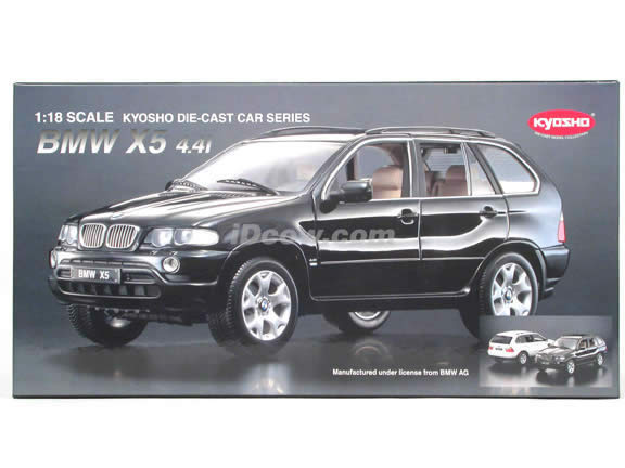 2002 BMW X5 diecast model car 1:18 scale die cast from Kyosho - Black