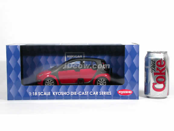 2006 Smart Forfour diecast model car 1:18 scale die cast from Kyosho - Red 09105R