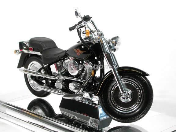 1999 Harley Davidson FAT BOY FLSTF Model Diecast Motorcycle 1:10 die cast by Maisto - Black