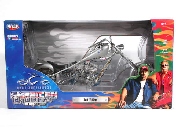 Orange County Choppers Jet Bike Diecast Motorcycle Model 1:10 scale die cast from ERTL (American Choppers)