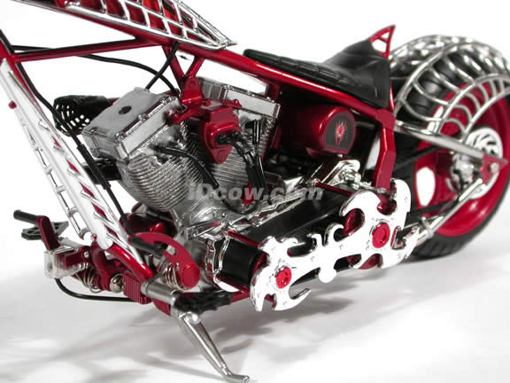 Orange County Choppers Black Widow Diecast Motorcycle Model 1:10 scale die cast from ERTL (American Choppers)