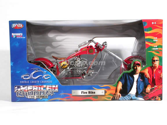 Orange County Choppers Fire Bike Diecast Motorcycle Model 1:10 scale die cast from ERTL (American Choppers)