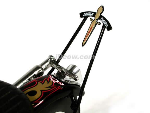 Orange County Choppers Old School Bike Diecast Motorcycle Model 1:10 scale die cast from ERTL (American Choppers)