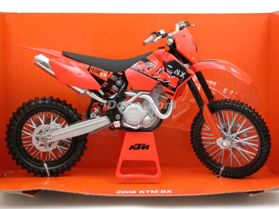2006 KTM SX diecast dirt bike motorcycle 1:12 scale die cast by NewRay - 42437