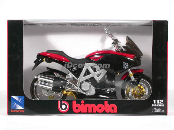 2001 Bimota Mantra diecast motorcycle 1:12 scale die cast by NewRay - Black - Red