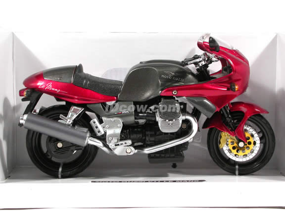 2002 Moto Guzzi V11 Le Mans diecast motorcycle 1:12 scale die cast by NewRay - Metallic Red