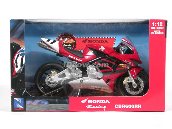 2003 Honda CBR600RR Honda Racing #17 diecast motorcycle 1:12 scale die cast by NewRay - Red