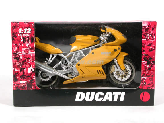 Ducati Desmodue 1000DS diecast motorcycle 1:12 scale die cast by NewRay - Yellow