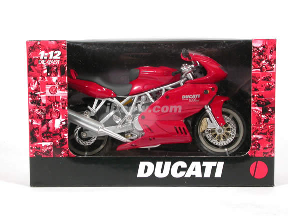 Ducati Desmodue 1000DS diecast motorcycle 1:12 scale die cast by NewRay - Red