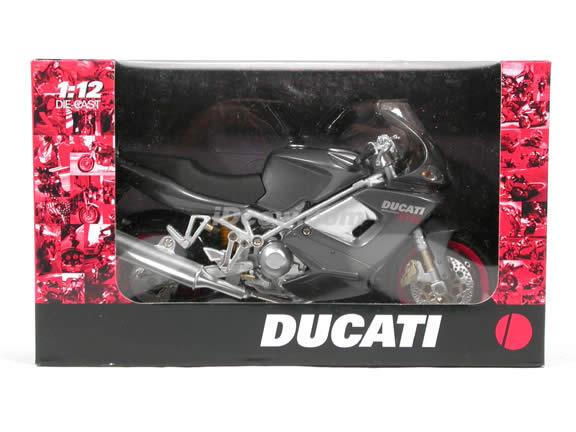 Ducati Desmodromico ST4S diecast motorcycle 1:12 scale die cast by NewRay - Grey