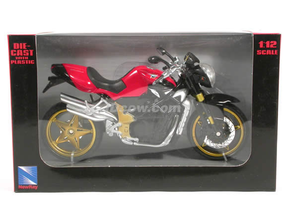 2004 MV Agusta Brutale diecast motorcycle 1:12 scale die cast by NewRay - Red