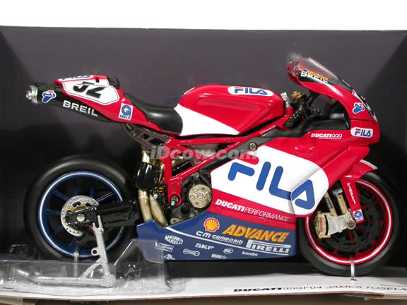 2004 Ducati 999 F04 James Toseland #52 Diecast Motorcycle Model 1:12 scale die cast from NewRay