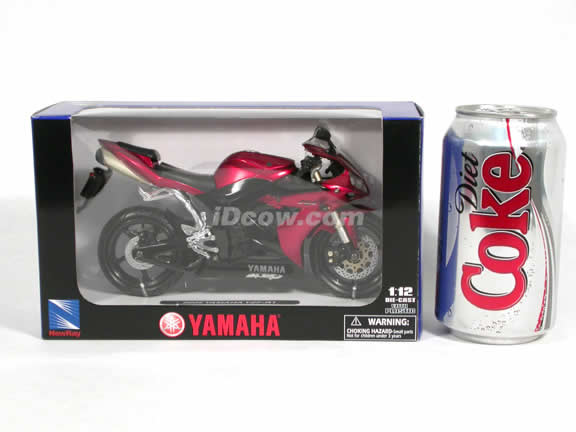 2005 Yamaha YZF-R1 Diecast Motorcycle Model 1:12 scale die cast from NewRay - Metallic Red 42337