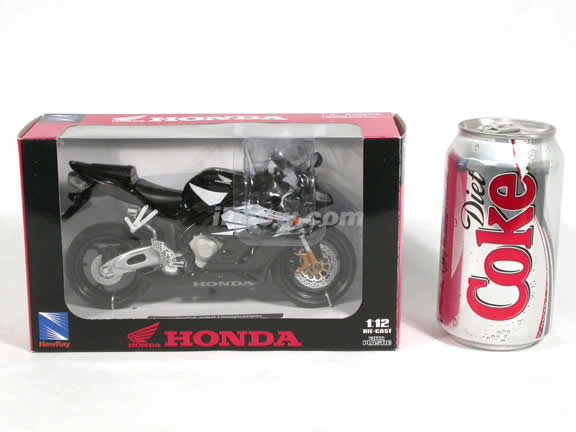 2005 Honda CBR1000R Diecast Motorcycle Model 1:12 scale die cast from NewRay - Black 42387