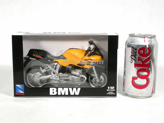 2003 BMW R1100S Diecast Motorcycle Model 1:12 scale die cast from NewRay - Yellow