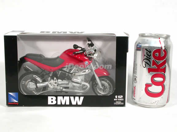 2002 BMW R1150R Diecast Motorcycle Model 1:12 scale die cast from NewRay - Red 53747