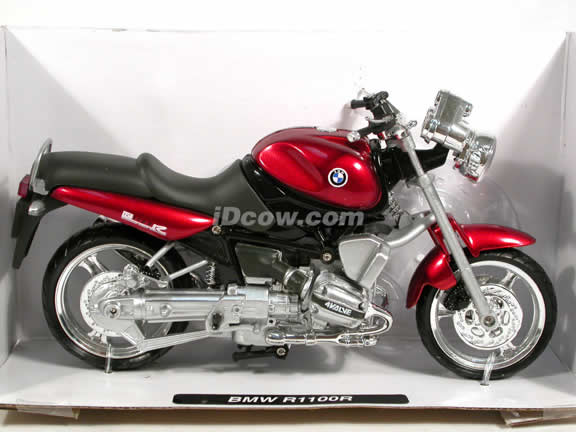1998 BMW R1100R Diecast Motorcycle Model 1:12 scale die cast from NewRay - Metallic Red 53747