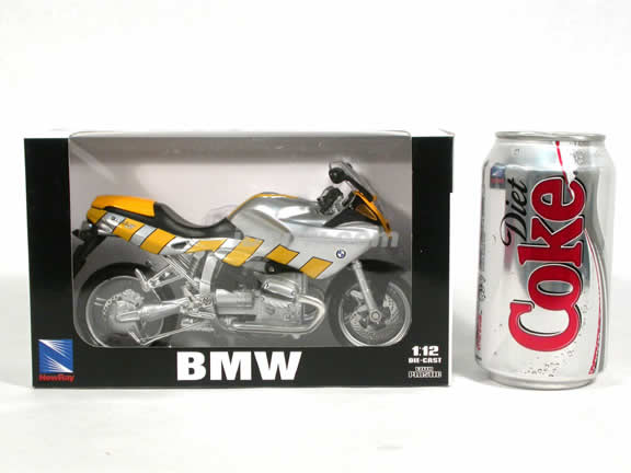 2000 BMW R1100S Diecast Motorcycle Model 1:12 scale die cast from NewRay - Silver Yellow 53747