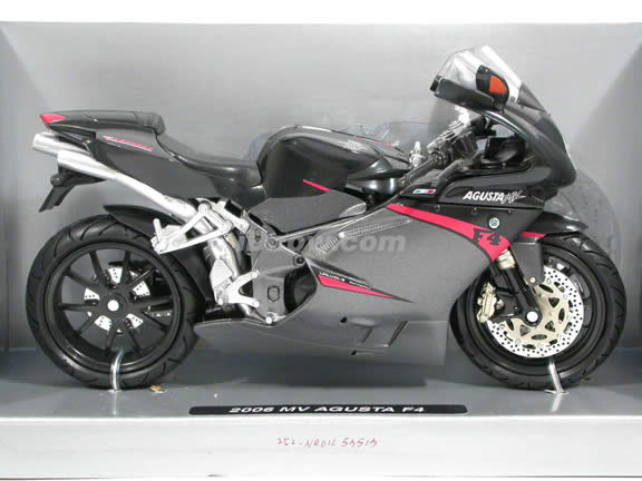 2006 MV Agusta F4 Diecast Motorcycle Model 1:12 scale die cast by NewRay - Black and Grey 42643