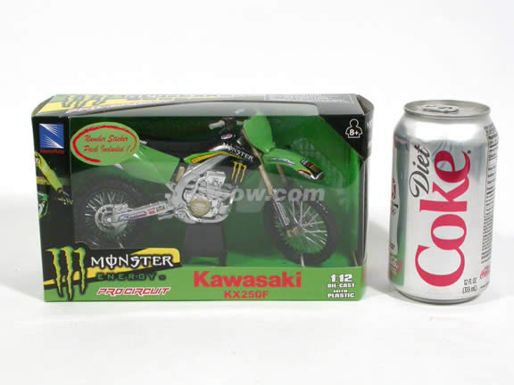 2008 Kawasaki KX250F Diecast Motorcycle Model 1:12 scale die cast by NewRay - 43237