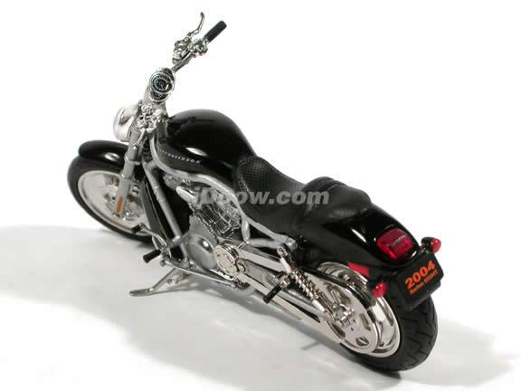 2004 Harley Davidson V-ROD Diecast Motorcycle Model 1:18 scale die cast from ERTL - Black with Silver Frame