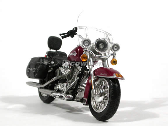 2004 Harley Daidson Heritage Softail Classic Diecast Motorcycle Model 1:18 scale die cast from ERTL - Maroon