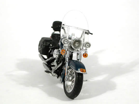 2004 Harley Davidson Heritage Softail Classic Diecast Motorcycle Model 1:18 scale die cast from ERTL - Dark Blue