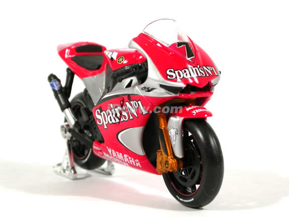 2004 Yamaha YZR M1 #7 Carlos Checa Diecast Motorcycle Model 1:18 scale die cast from Maisto - Red