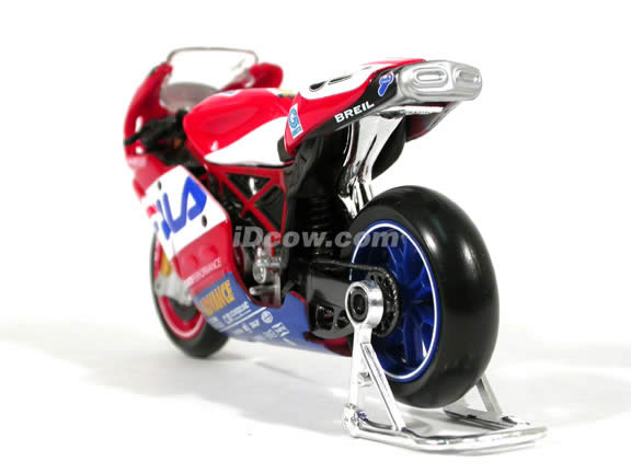 2004 Ducati 999 #52 James Toseland Diecast Motorcycle Model 1:18 scale die cast from Maisto - Red