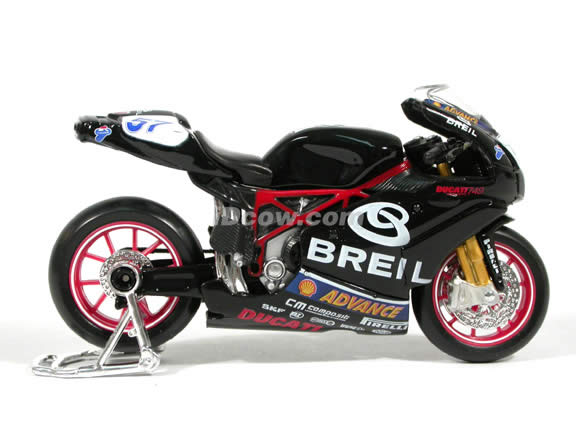 2004 Ducati 749 #57 Lorenzo Lanzi Diecast Motorcycle Model 1:18 scale die cast from Maisto - Black