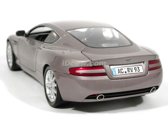 2004 Aston Martin DB9 Coupe diecast model car 1:18 scale die cast from Minichamps - Violet Silver