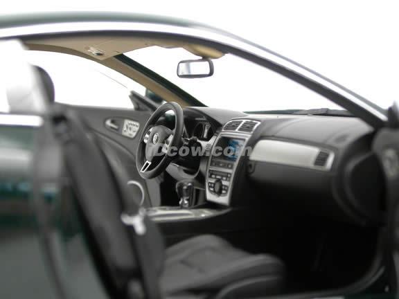 2006 Jaguar XK Coupe diecast model car 1:18 scale die cast by Minichamps - Dark Green 071575