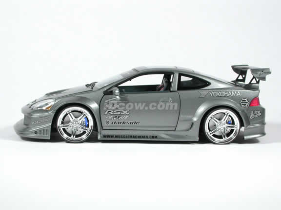 2002 Acura RSX Diecast model car 1:18 scale from Muscle Machines - Charcoal Grey