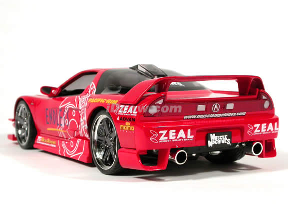 2003 Acura NSX diecast model car 1:18 scale die cast from Muscle Machines - Red